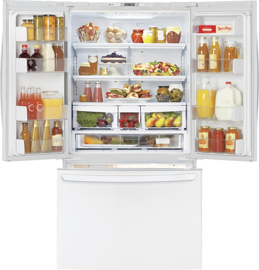 Lg Lfc25776sw 25 0 Cu Ft French Door Refrigerator With 4
