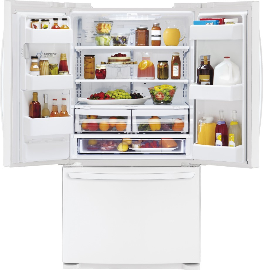 Lg Lfx25974sw 247 Cu Ft French Door Refrigerator With Spill