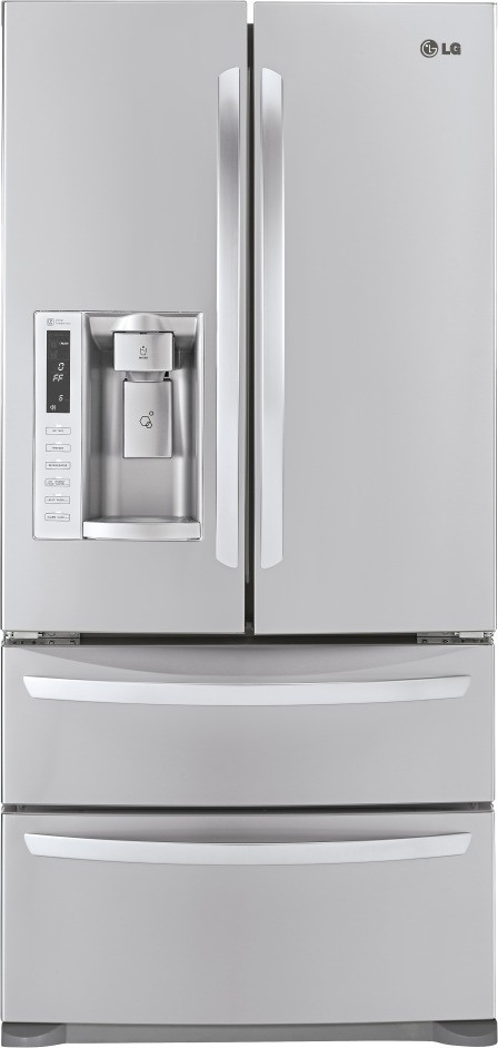 Lg Lmx25988st 24 7 Cu Ft French Door Refrigerator With 4