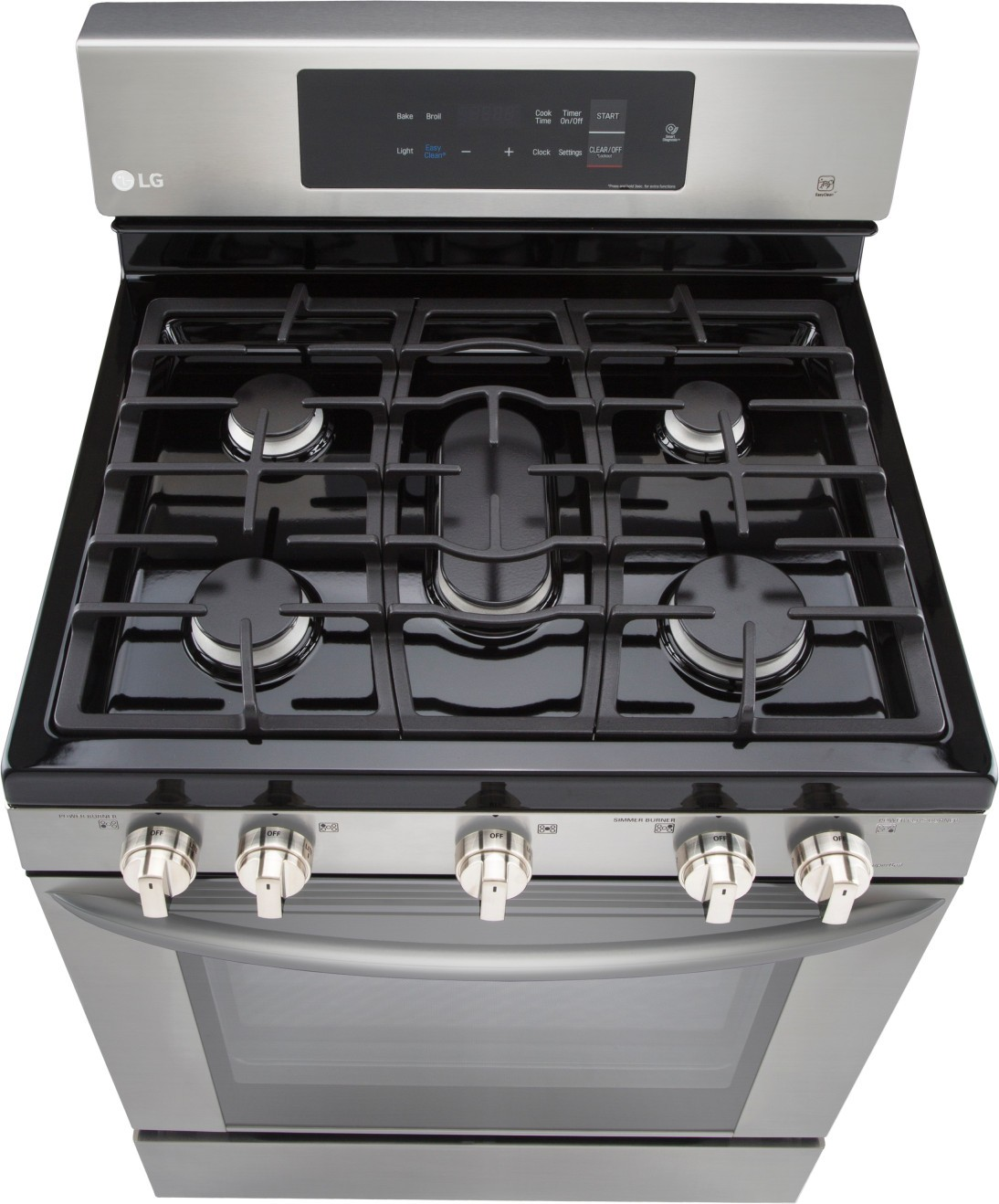Lrg3061st Lg 30 Quot Gas Range 5 Sealed Burners Stainless
