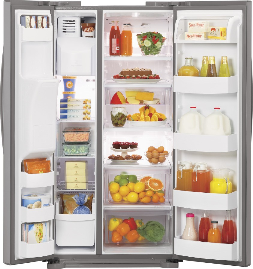 Lg Lsc23924sw 23 0 Cu Ft Side By Side Refrigerator With