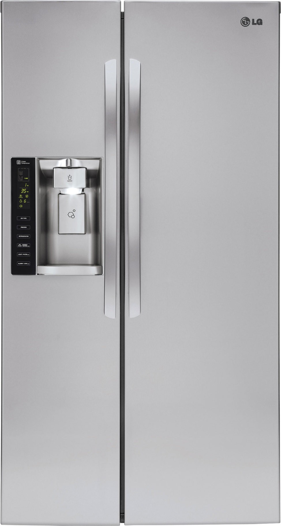 Lg Lsxc22336s 22 Cu Ft Side By Side Refrigerator Counter