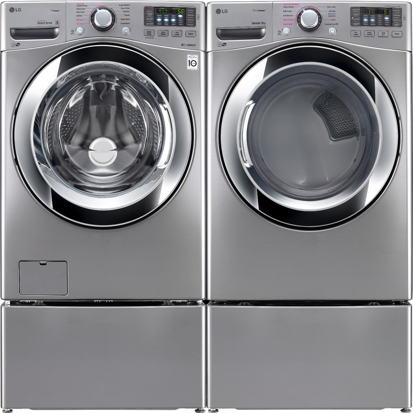 Lg Wm3670hva Front Load Washer Amp Dlex3370v Electric Dryer