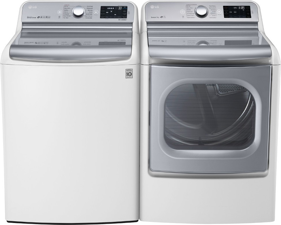 Lg Wt7700hwa Top Load Washer Amp Dlex7700we Electric Dryer