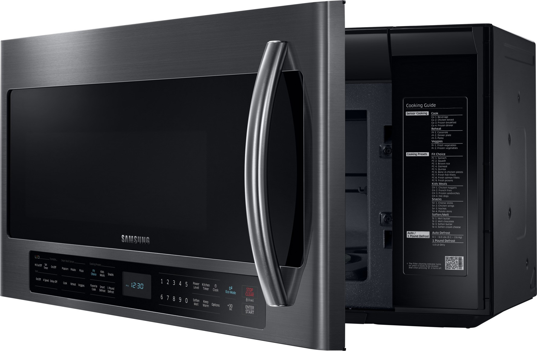 Available Options Black Stainless Steel Samsung Me21h706mqg