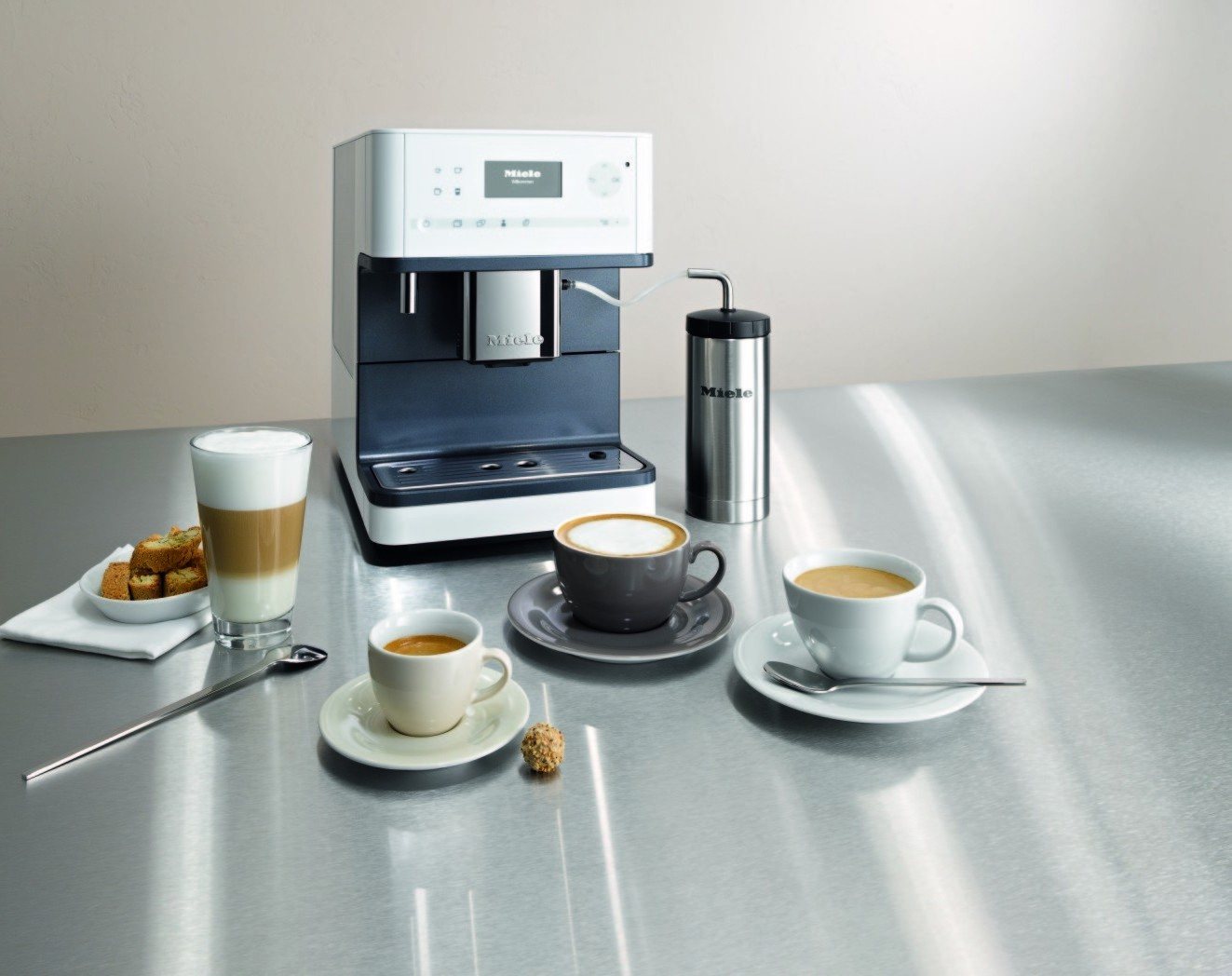 Plumbed Coffee Maker With Grinder : CM 6310 WH Miele Coffee Maker with Grinder, White - Make Espresso Drinks with Ease