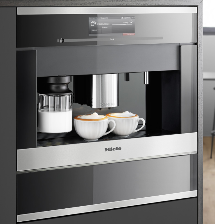 miele cva6805 24 plumbed built in coffee system m touch controls. Black Bedroom Furniture Sets. Home Design Ideas