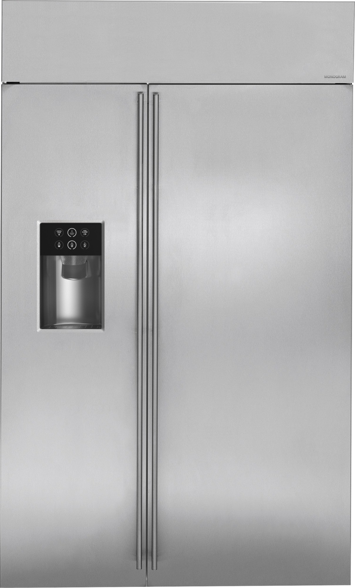 monogram ziss480dkss 48 u0026quot  built-in refrigerator with dispenser  wifi connect