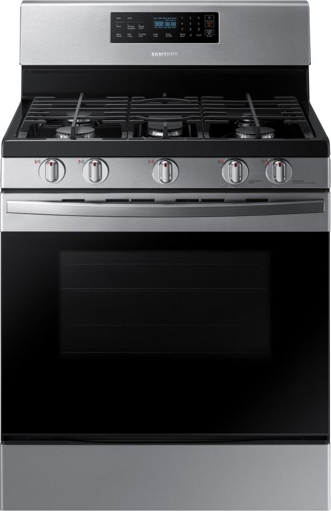 gas samsung range stainless steel freestanding inch ft oven wide cooktop inches grates burner cu self burners flexible depth cleaning