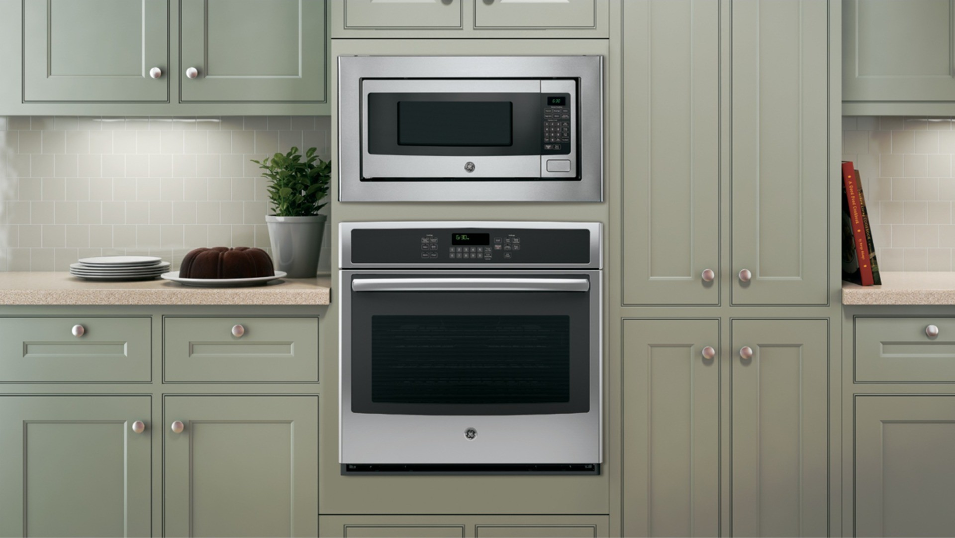 Ge Profile Pem31sfss 1 Cu Ft Microwave Oven Countertop Or Built In Hover To Zoom Main Feature