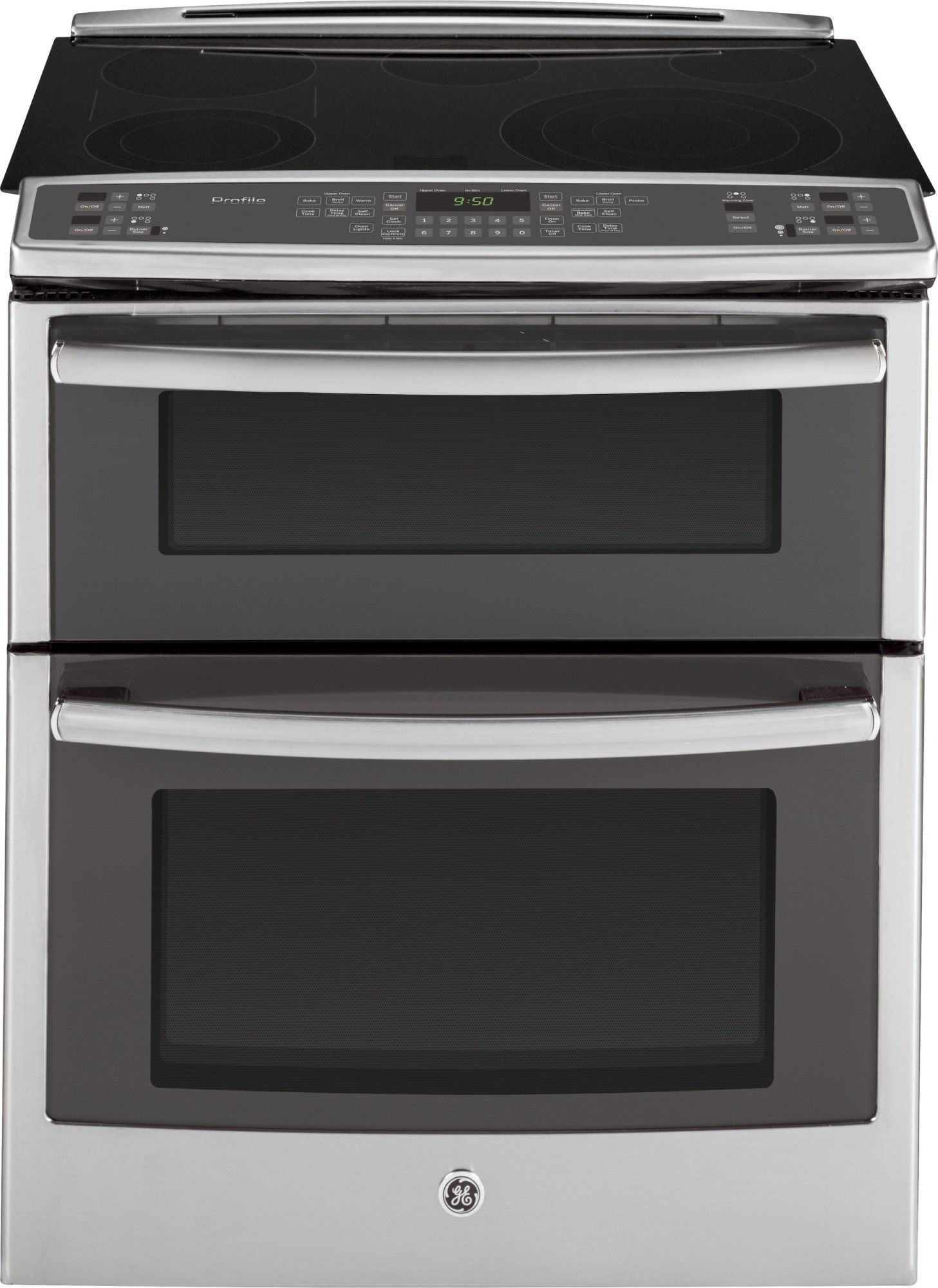 ps950sfss ge profile 30 slide in double oven electric range convection stainless steel. Black Bedroom Furniture Sets. Home Design Ideas