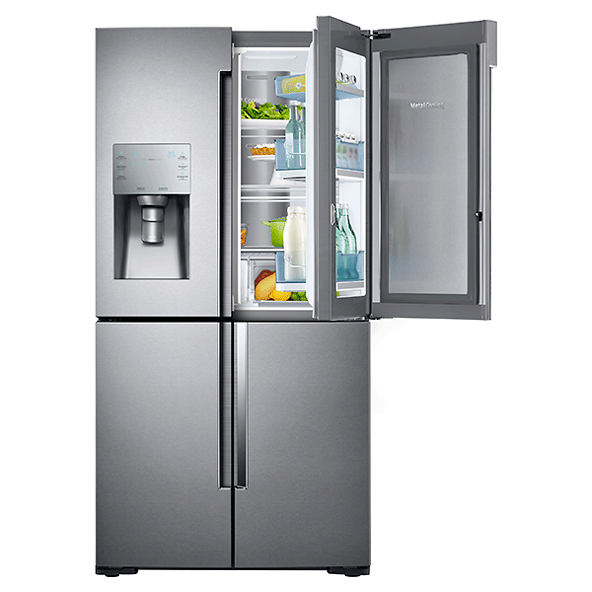rf28k9380sr samsung 36 4 door french door refrigerator showcase door stainless steel. Black Bedroom Furniture Sets. Home Design Ideas