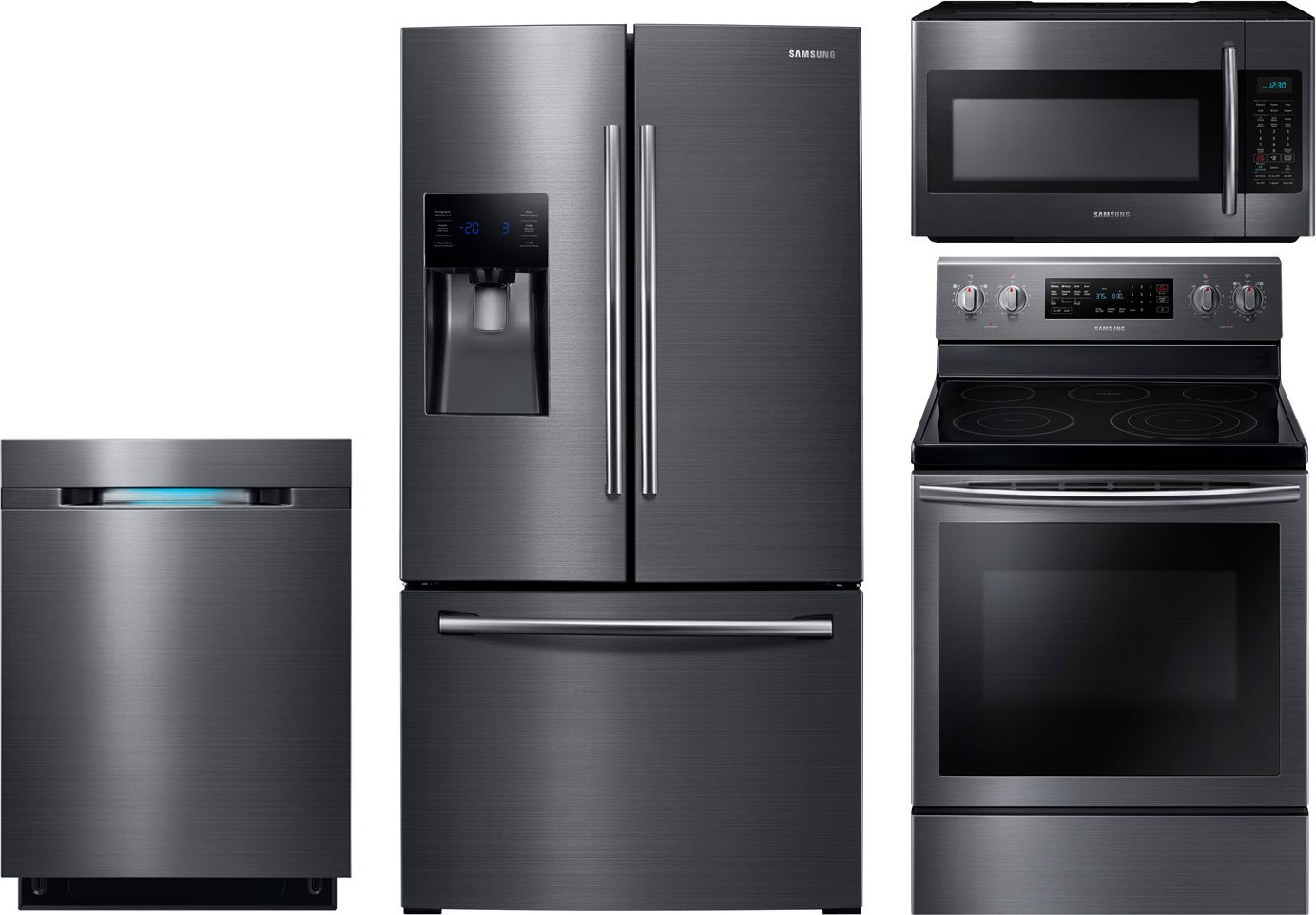 Samsung 4 Piece Kitchen Package With Ne59j7630sg Electric