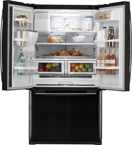 Samsung Rf263aebp 25 8 Cu Ft French Door Refrigerator