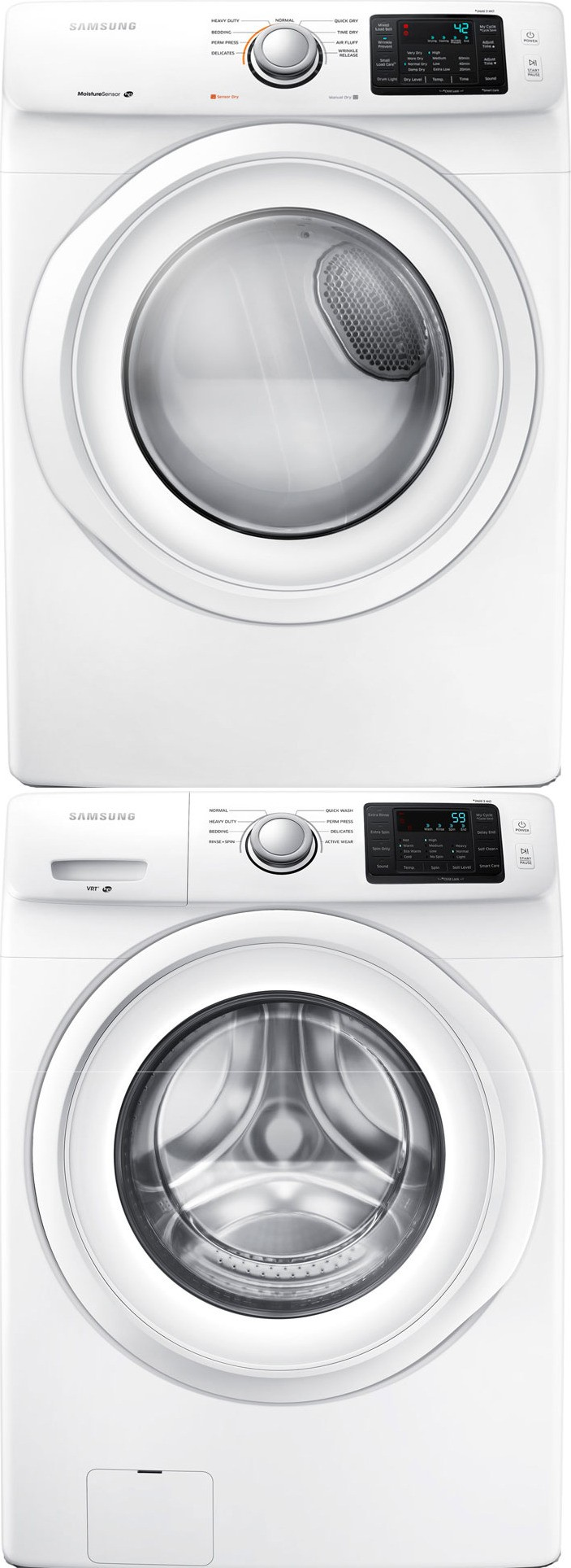Samsung Wf42h5000aw Front Load Washer Amp Dv42h5000gw Gas
