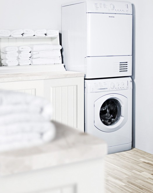 Arwl129na summit ariston 24 cu ft compact front for Tiny house stackable washer dryer