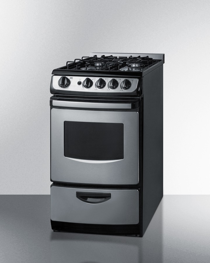 "Summit PRO200SSRT 20"" Slide In Gas Range For Use In Small"