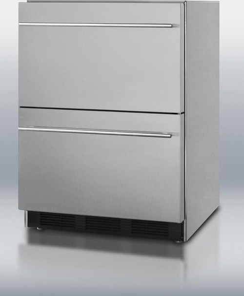 Sp6ds2d7 Summit 24 Quot Double Drawer Undercounter
