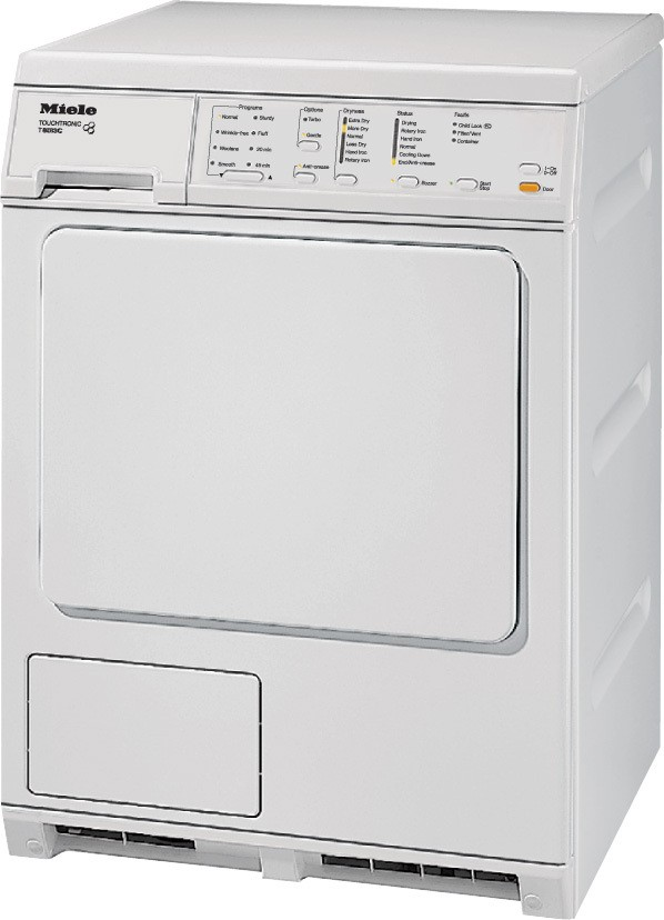 Miele t8013c 24 inch electric dryer with large capacity, 8 pre-set.