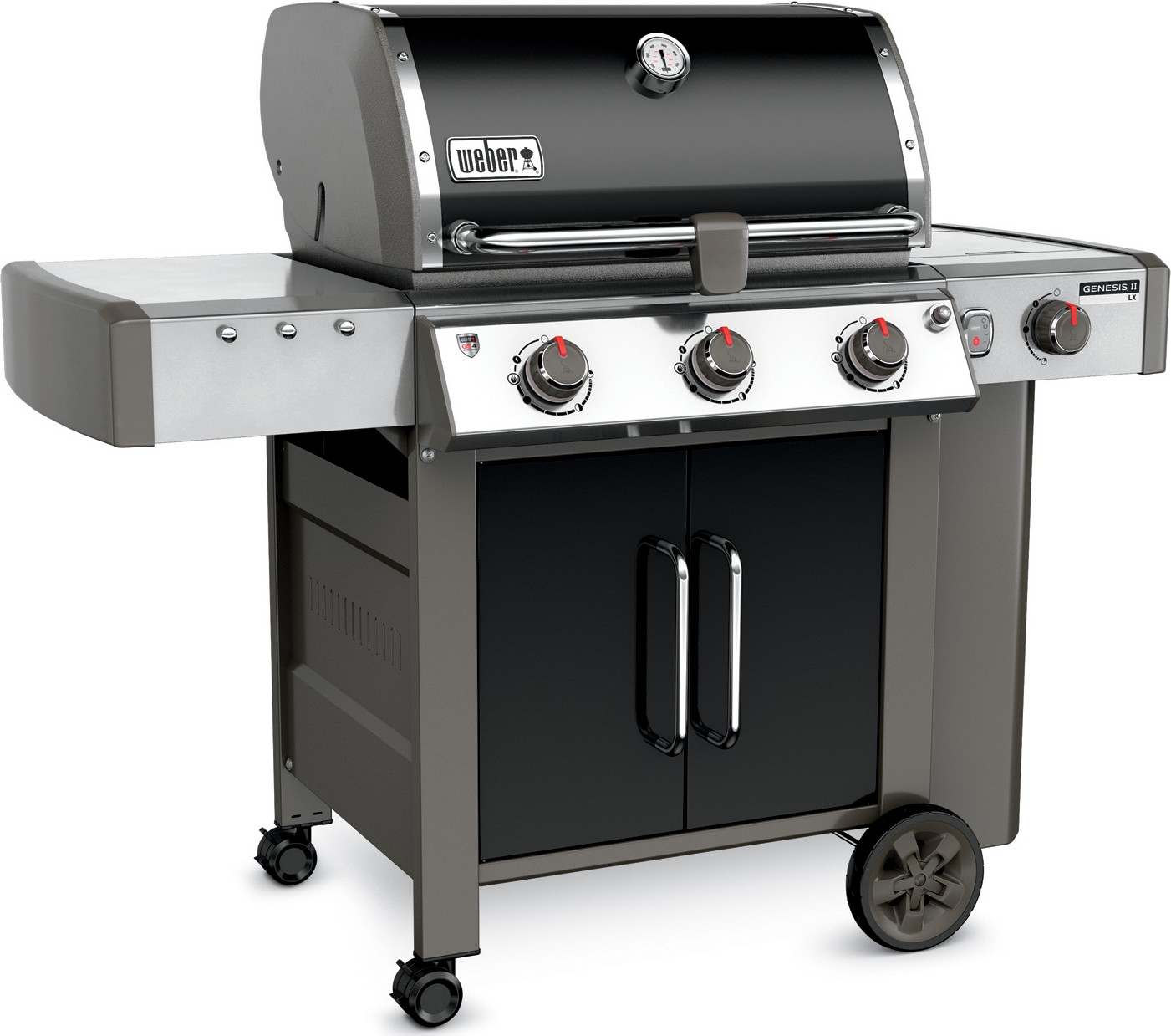 weber genesis ii lx e 340 3 burner gas grill 61014001 black lp. Black Bedroom Furniture Sets. Home Design Ideas