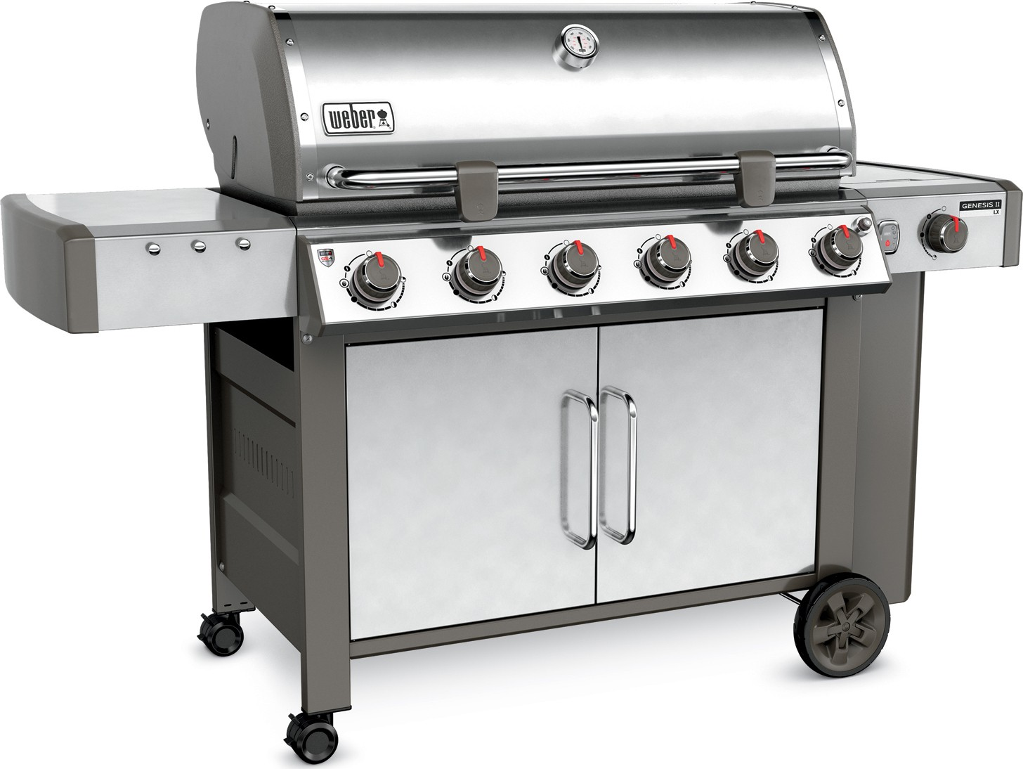 weber genesis ii lx s 640 6 burner gas grill 63004001 stainless steel. Black Bedroom Furniture Sets. Home Design Ideas