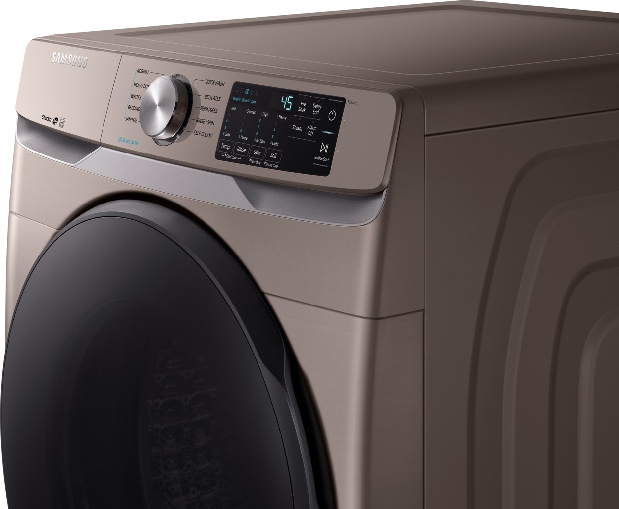 Wf45r6100ac Samsung 27 Quot 4 5 Cu Ft Washer With Steam