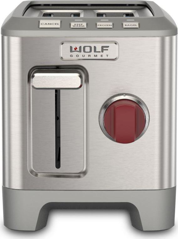Wgtr102s wolf 2 slice toaster red knob for Wolf toaster oven