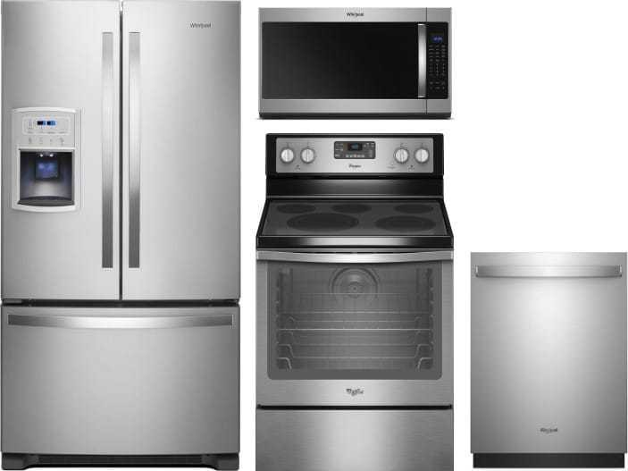 Whirlpool 4 Piece Appliance Package With Wrf550cdhz