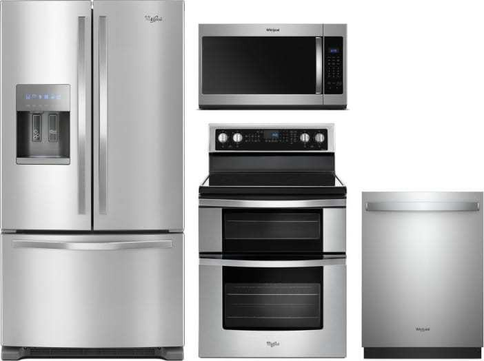 Whirlpool 4 Piece Appliance Package With Wrf555sdfz