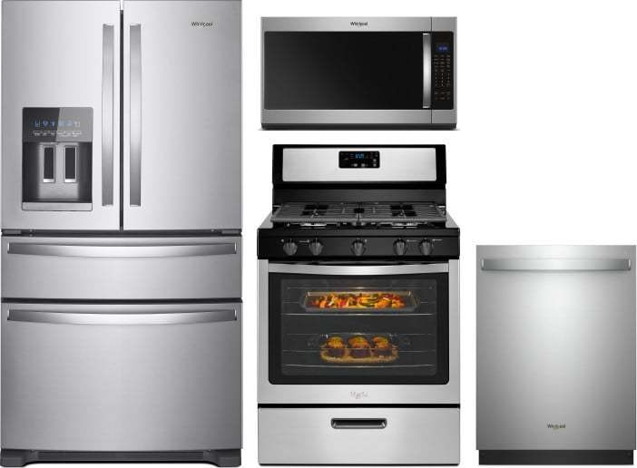Whirlpool 4 Piece Appliance Package With Wrx735sdhz