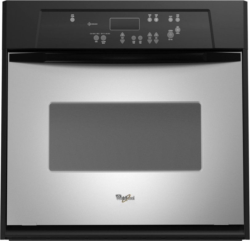 Whirlpool Rbs245prs 24 Single Electric Wall Oven With Large Oven Window Accubake System Stainless Steel