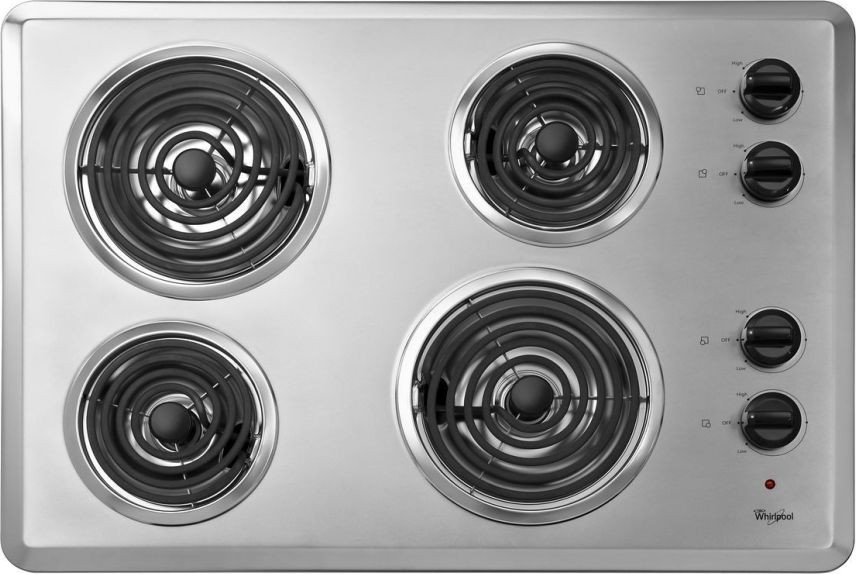 Whirlpool Wcc31430ar 30 Quot Coil Electric Cooktop With 4 Coil