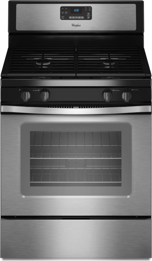Whirlpool wfg520s0as 30 freestanding gas range with 4 sealed burners 5 0 cu ft self cleaning - Clean gas range keep looking new ...
