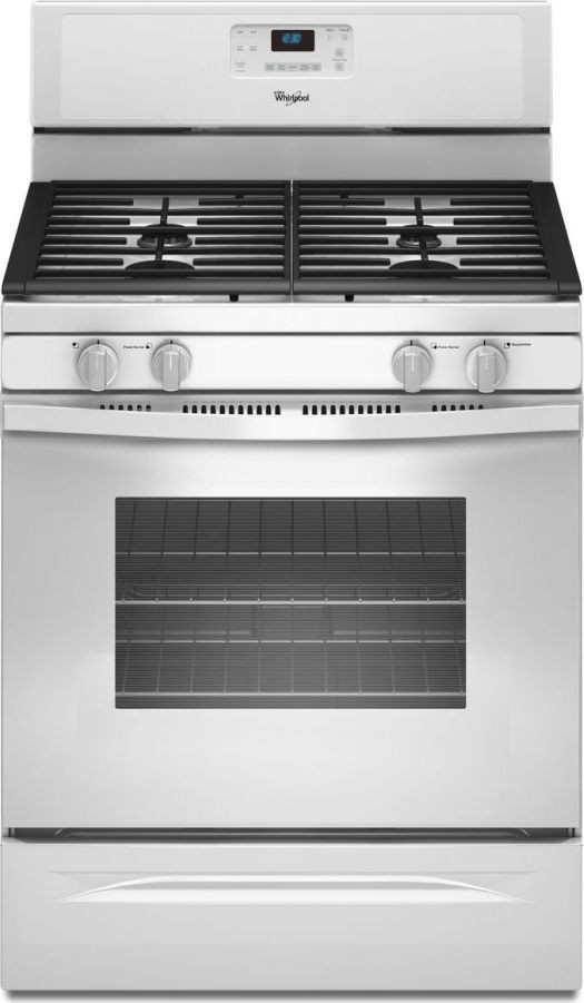 Whirlpool wfg520s0aw 30 freestanding gas range with 4 sealed burners 5 0 cu ft self cleaning - Clean gas range keep looking new ...