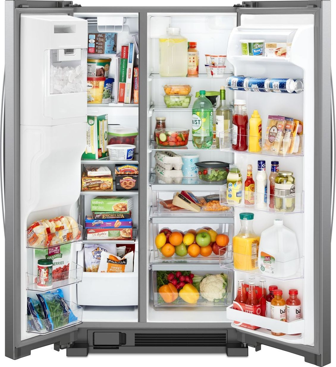 Whirlpool 25 Cu Ft Side By Refrigerator Stainless Steel