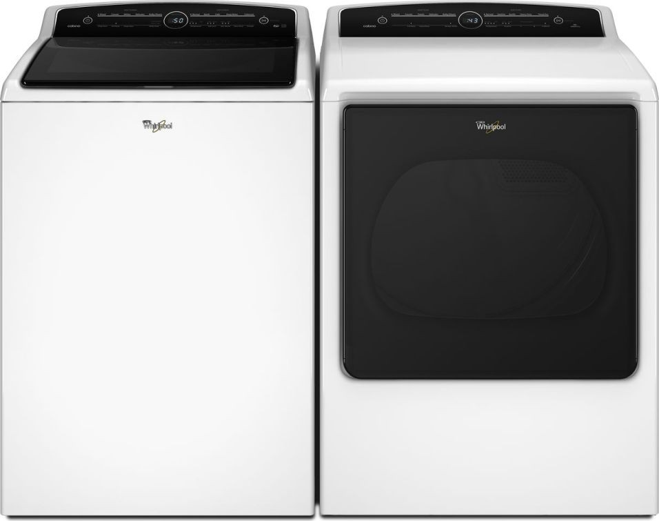 Whirlpool WTW8000DW Top Load Washer & WED8000DW Electric Dryer