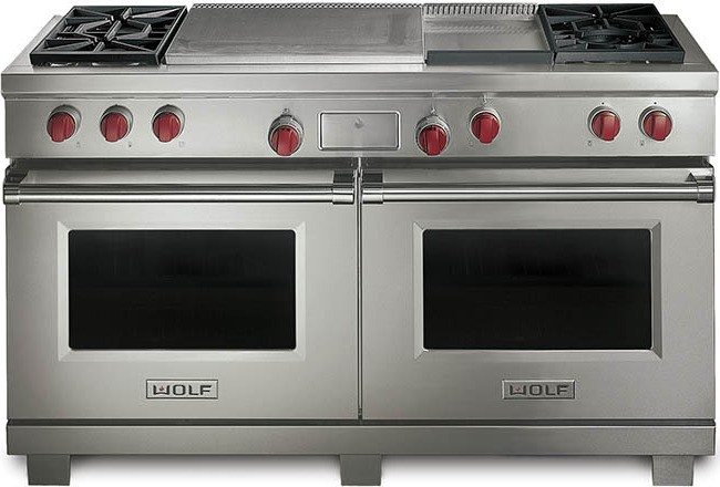 Wolf Df604gf 60 Dual Fuel Range With 4 Sealed Burners