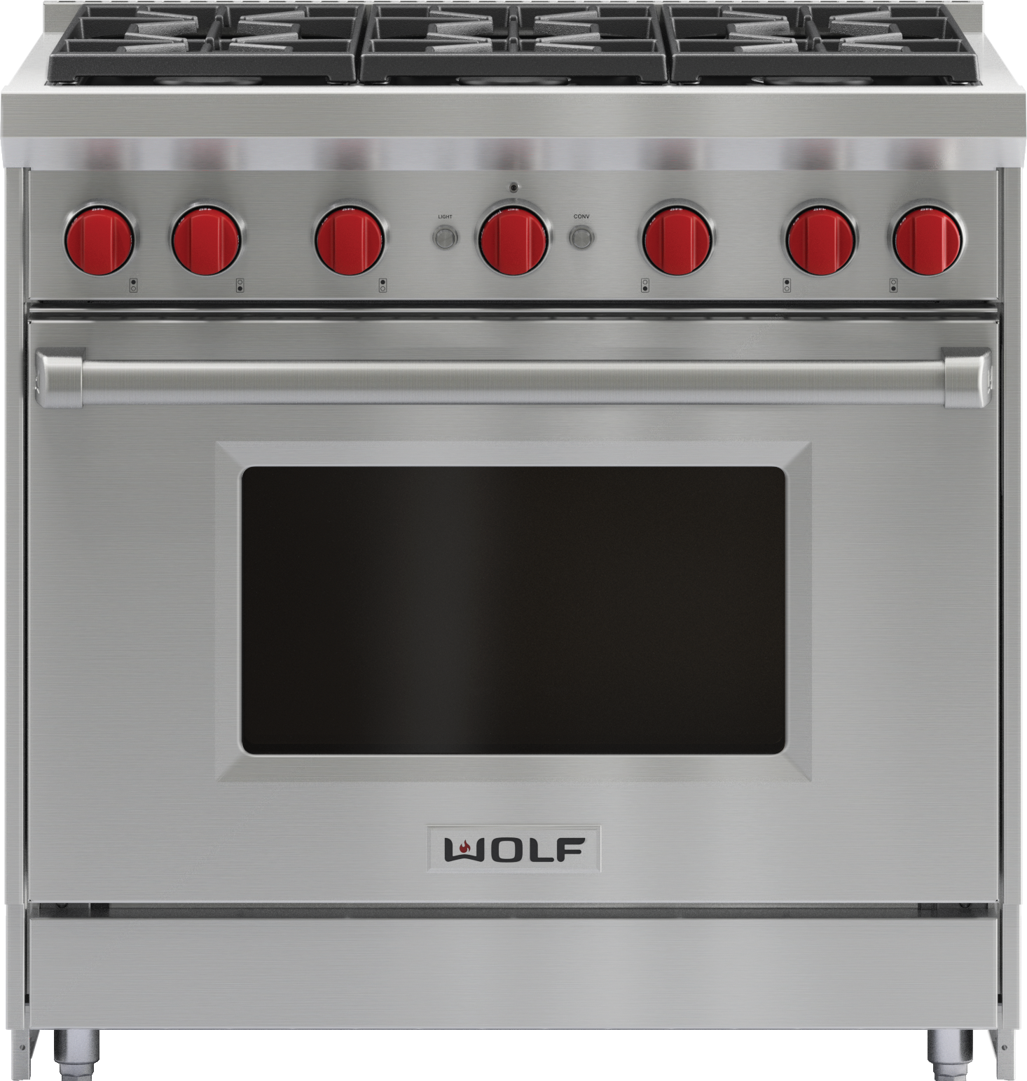 Wolf Gr366 36 Inch Gas Range 6 Burners