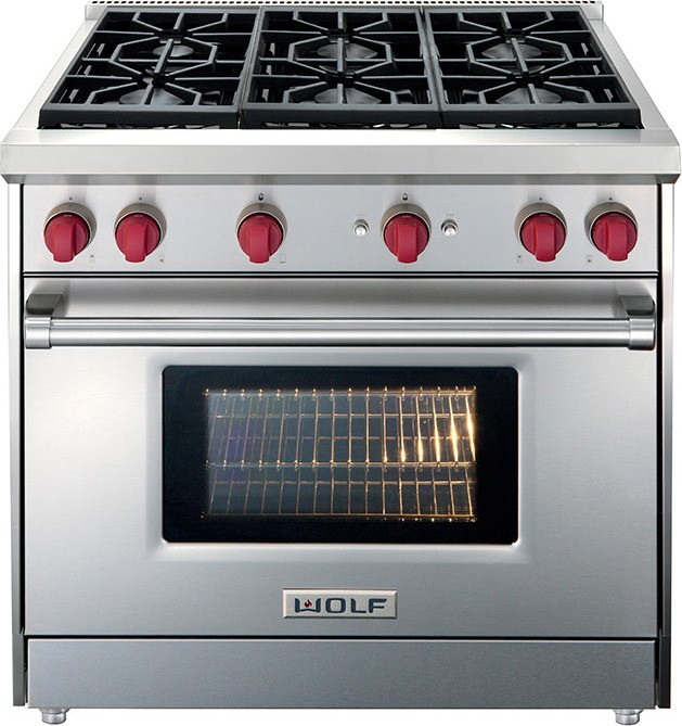 Wolf GR366 36 inch Gas Range - 6 Burners on flat top kitchen stoves, 2 burner kitchen stoves, 6 burner electric stoves, home kitchen stoves, center island kitchen stoves, 6 range gas stoves, double oven kitchen stoves, 3 burner kitchen stoves, gas kitchen stoves, 6 burner stoves double ovens, electric kitchen stoves, stainless steel kitchen stoves,
