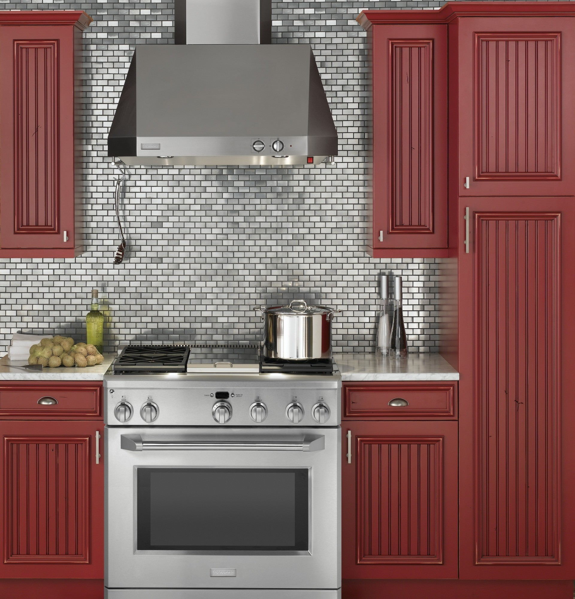 """Professional Kitchen: Monogram 36"""" All Gas Professional Range With"""