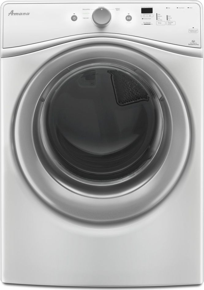 Amana NFW5800DW Front Load Washer & NED5800DW Electric Dryer w/Stacking Kit