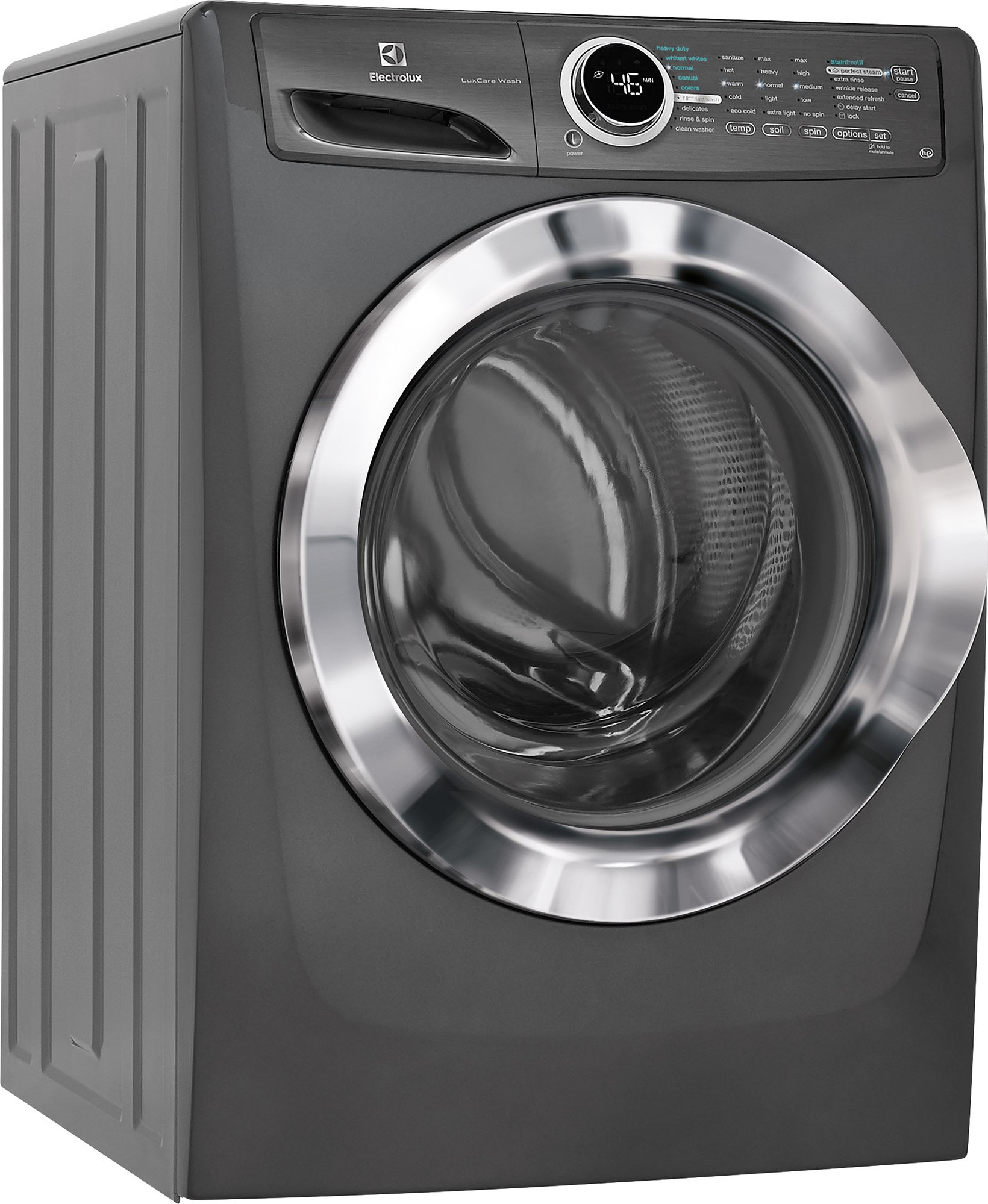 handle spin integrated dryers pedestal front chrome your raises laundry and loading electrolux w june gray prod metallic washer the
