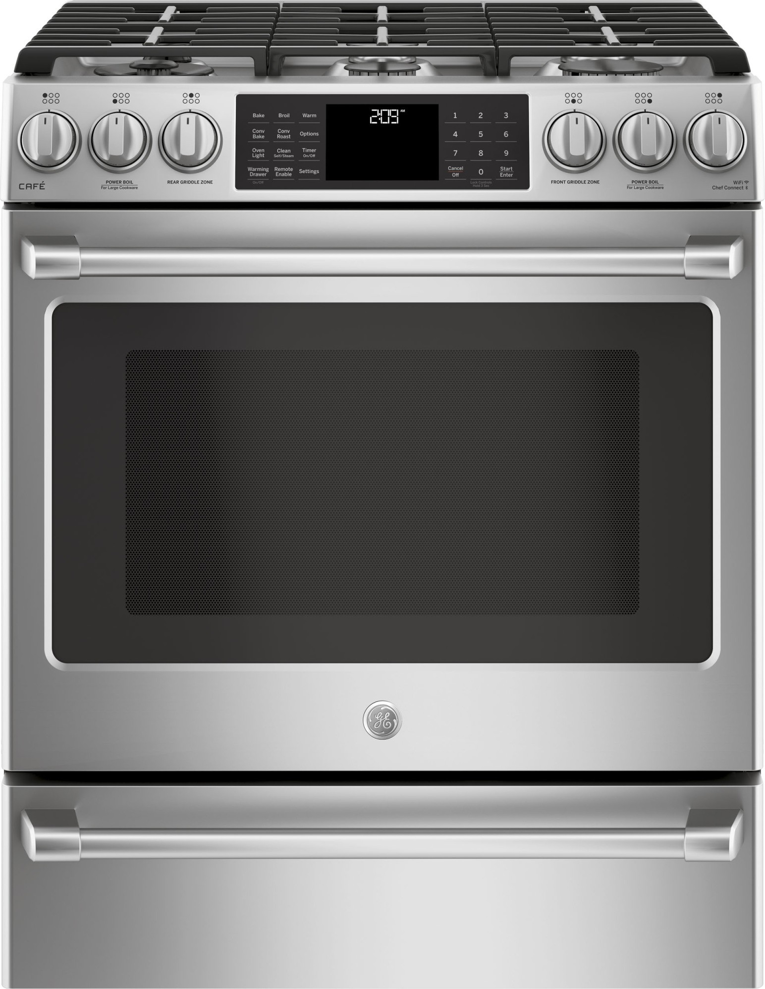 Ge Cafe Stainless Steel Appliance Package With Slide In