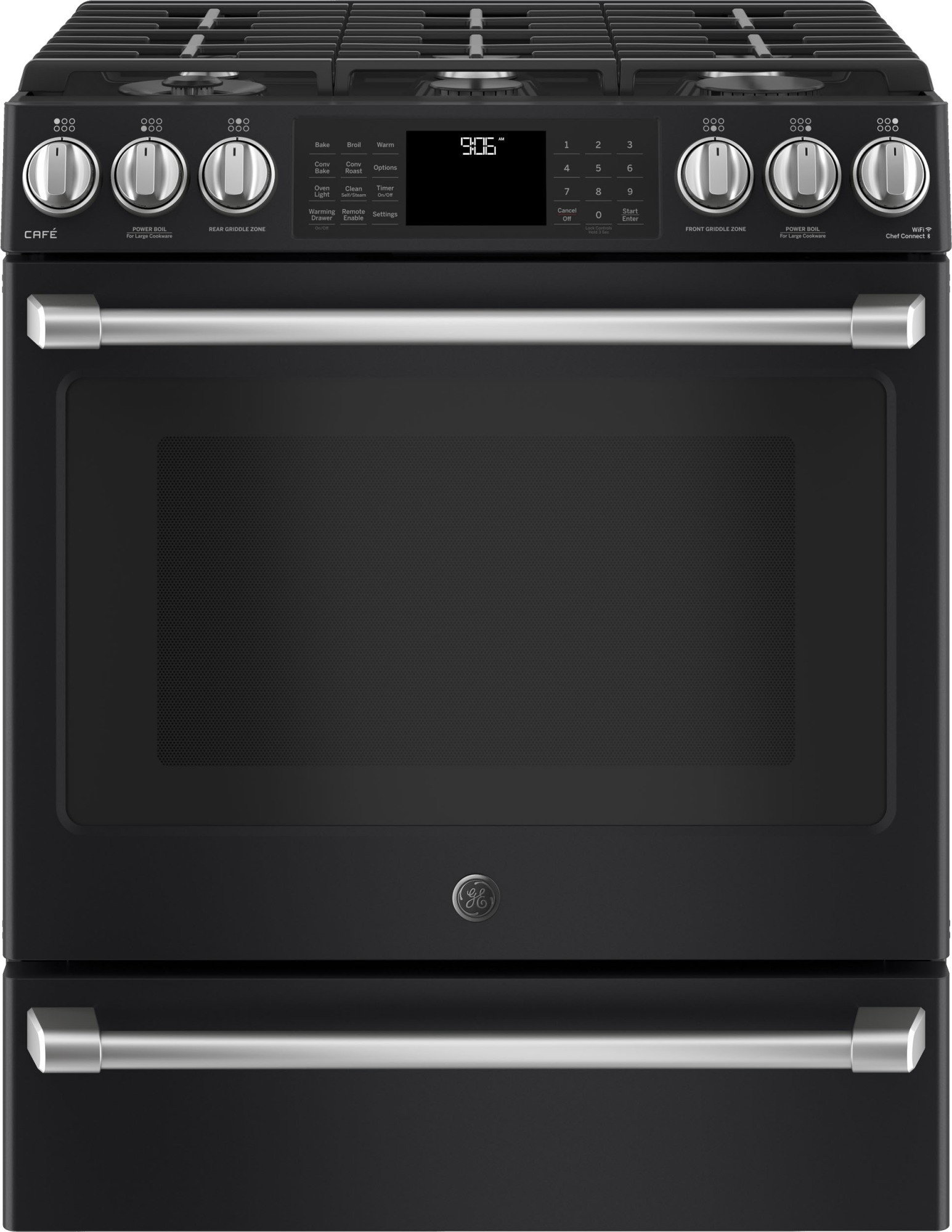 Ge Cafe Black Slate Appliance Package With Gas Range Pro