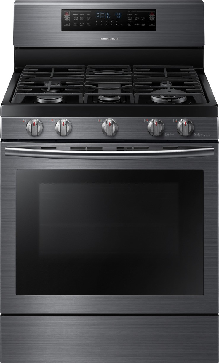 Samsung 4 Piece Kitchen Package With Nx58j7750sg Gas Range