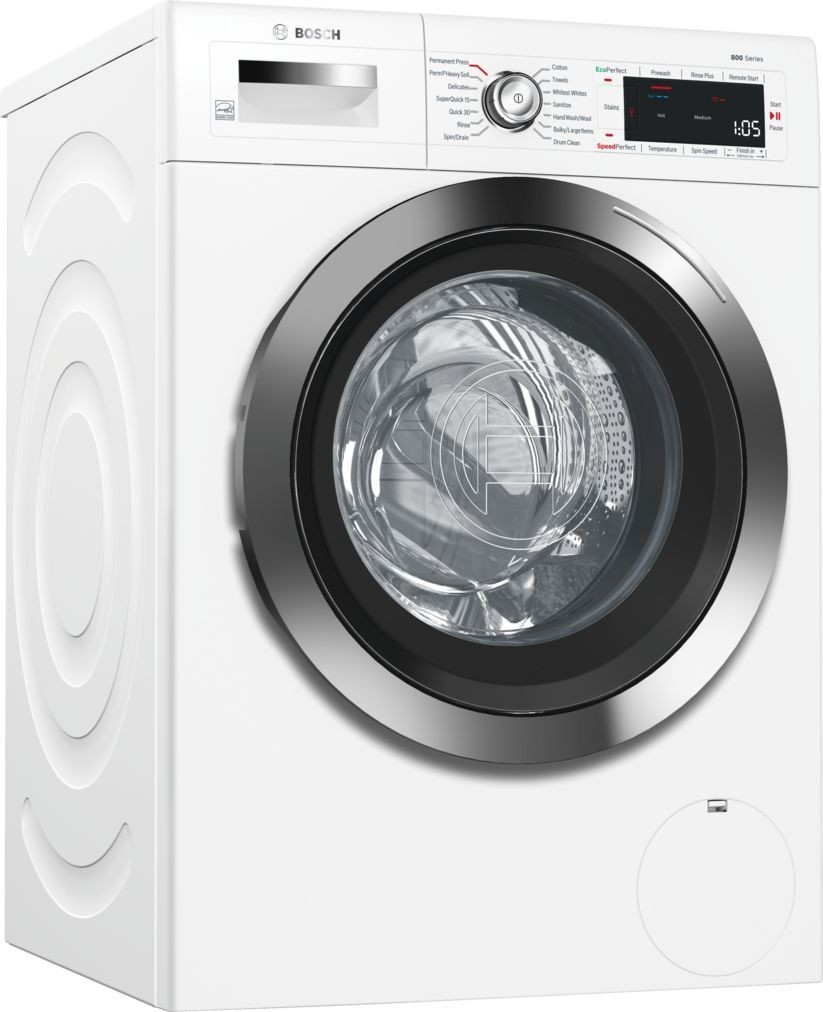 bosch waw285h2uc washer wtg865h2uc electric dryer w stacking kit. Black Bedroom Furniture Sets. Home Design Ideas