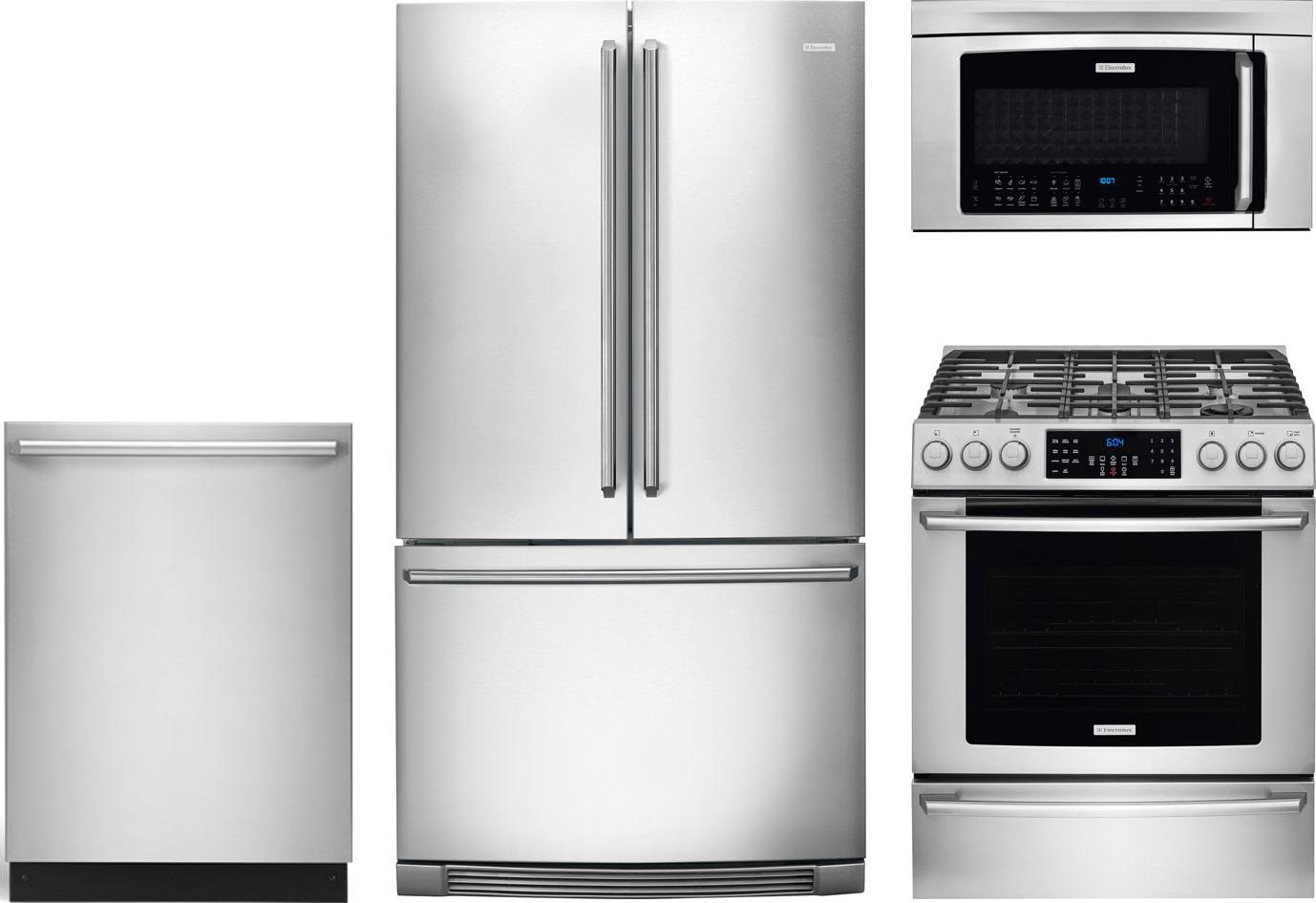 electrolux 4-piece kitchen package with ei30gf45qs gas range