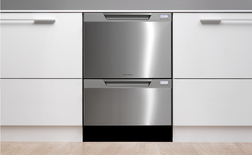 Fisher Paykel DishDrawer DD24DCTX6V2 Semi Integrated Double Drawer  Dishwasher, Tall Tub: Stainless