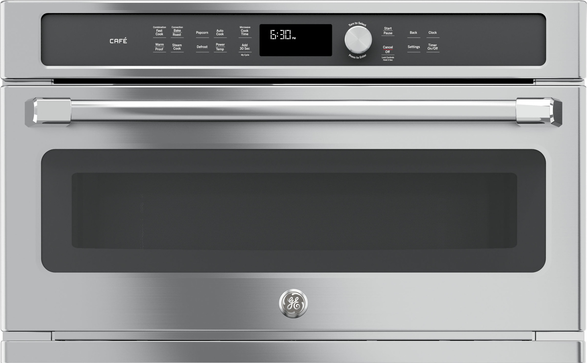 Cwb7030slss Ge Cafe 30 1 7 Built In Microwave And Convection Oven Stainless Steel