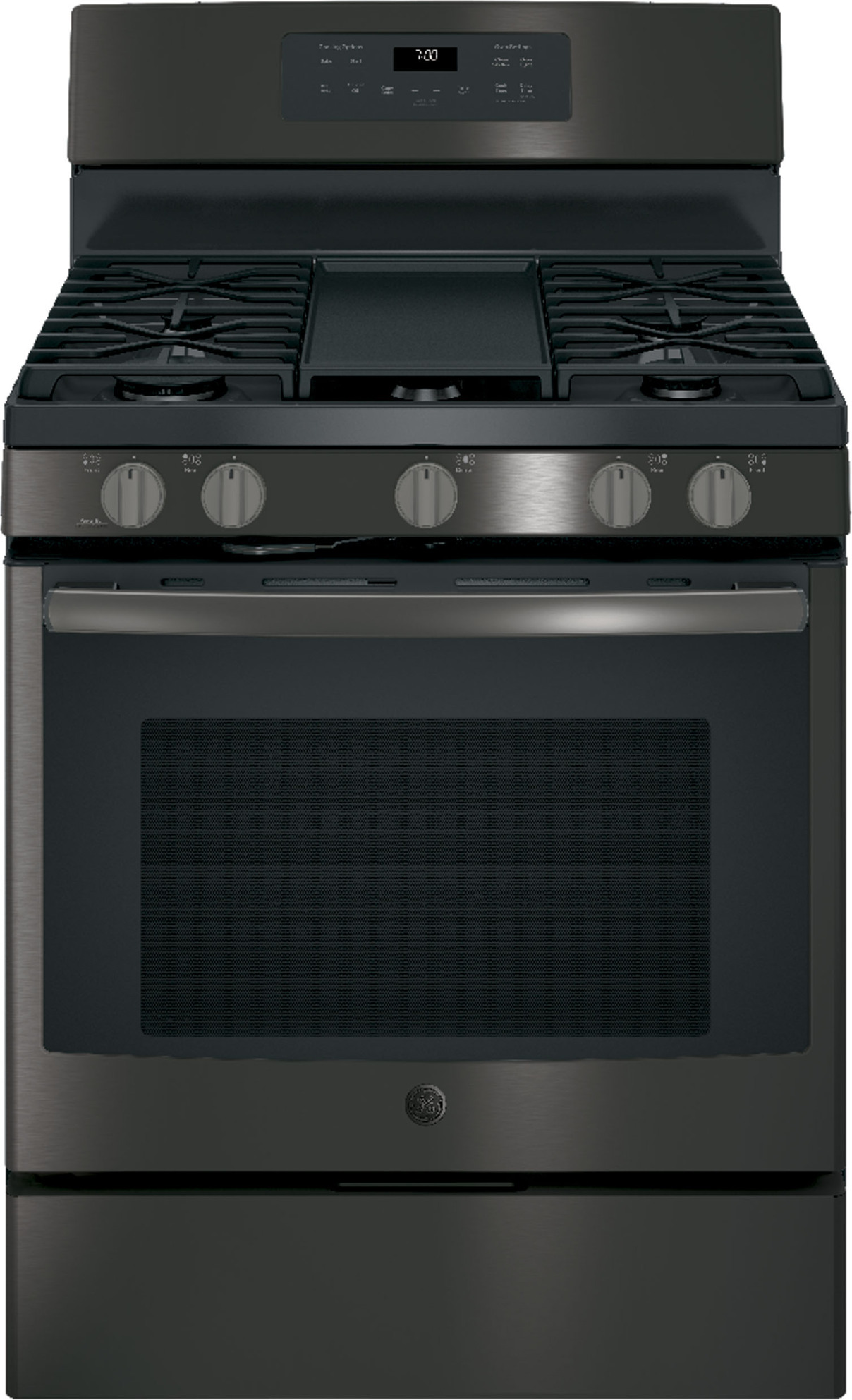 Jgb700bejts Ge 30 Convection Gas Range Steam Self Clean Black